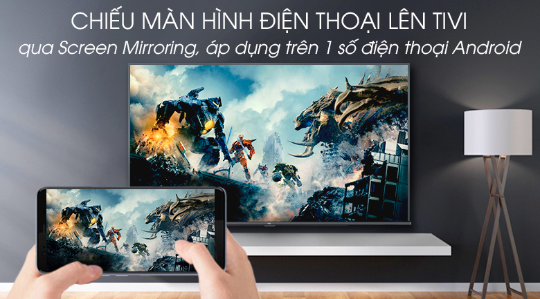 Android Tivi TCL 4K 43 inch L43A8 - Screen Mirroring