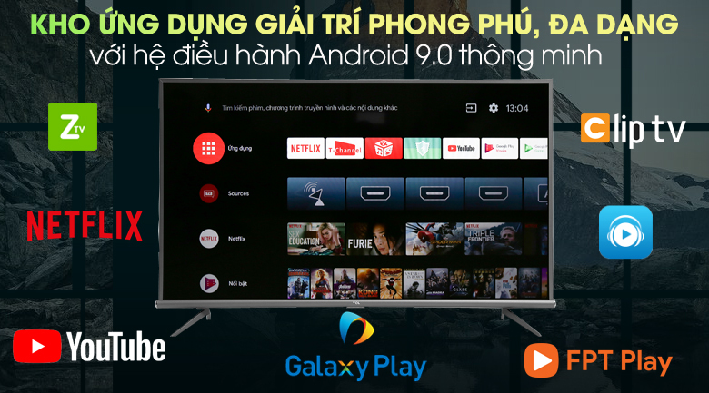 Android Tivi TCL 4K 43 inch L43A8 - Android 9.0