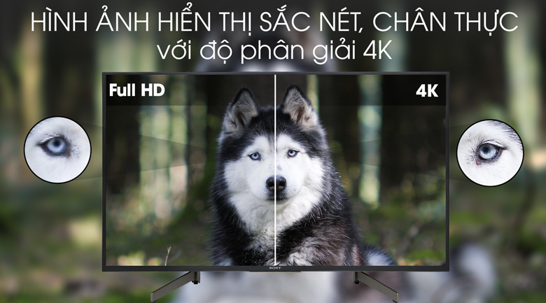 Tivi Sony 4K 43 inch KD-43X7000G - độ phân giải