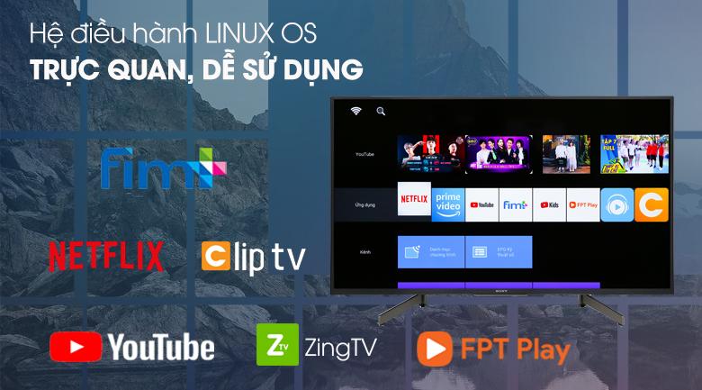 Smart Tivi Sony 4K 43 inch KD-43X7000G - hệ điều hành