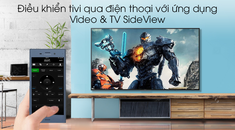 Smart Tivi Sony 4K 43 inch KD-43X7000G - Video & TV SideView
