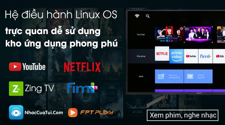 Smart Tivi Sony 4K 55 inch KD-55X7000G - Hệ điều hành