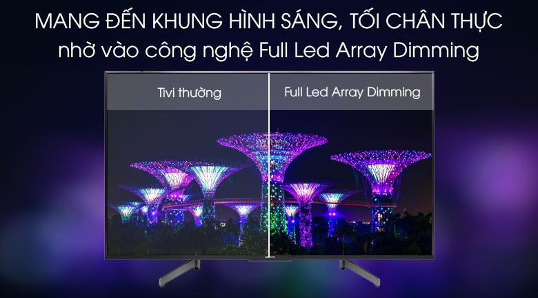 Android Tivi Sony 4K 49 inch KD-49X8500G Mẫu 2019 - Công nghệ Full Led Array Dimming giúp cân bằng sáng tối ưu
