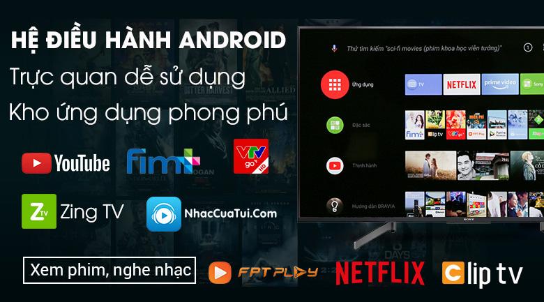 Android Tivi Sony 4K 49 inch KD-49X8500G - Hệ điều hành