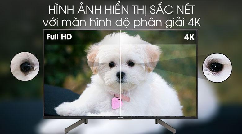 Tivi Sony 4K 49 inch KD-49X8500G - độ phân giải