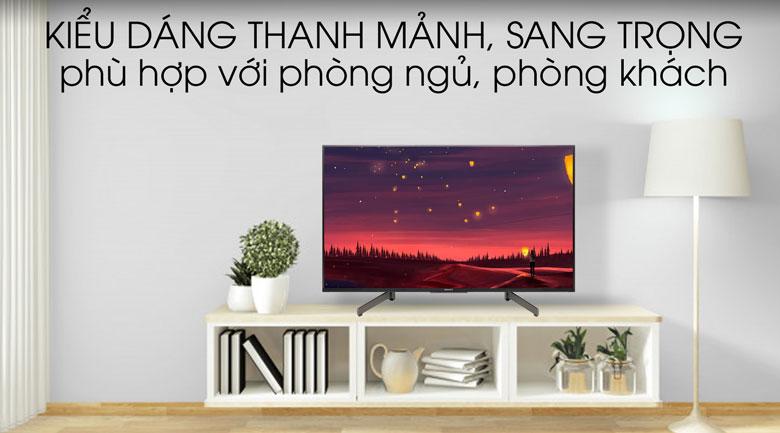 Tivi Sony 4K 49 inch KD-49X8500G - thiết kế