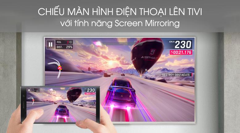 Chiếu màn hình điện thoại lên Android Tivi Sony 4K 49 inch KD-49X8500G/S