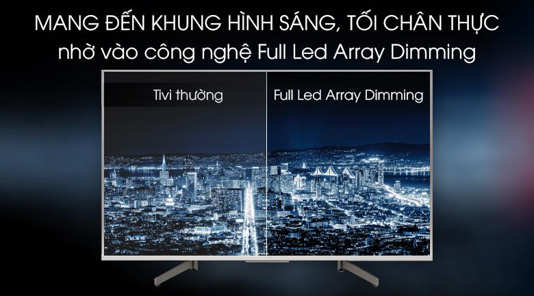 Android Tivi Sony 4K 49 inch KD-49X8500G/S -  Cân bằng sáng chính xác với công nghệ Full Led Array Dimming