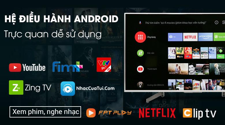 Android Tivi Sony 4K 49 inch KD-49X8500G/S - Hệ điều hành Android 8.0 dễ dàng sử dụng