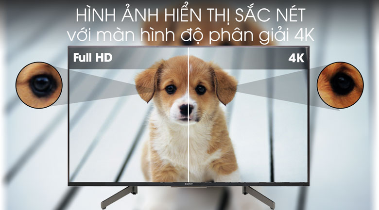 Tivi Sony 4K 49 inch KD-49X8500G/S Độ phân giải
