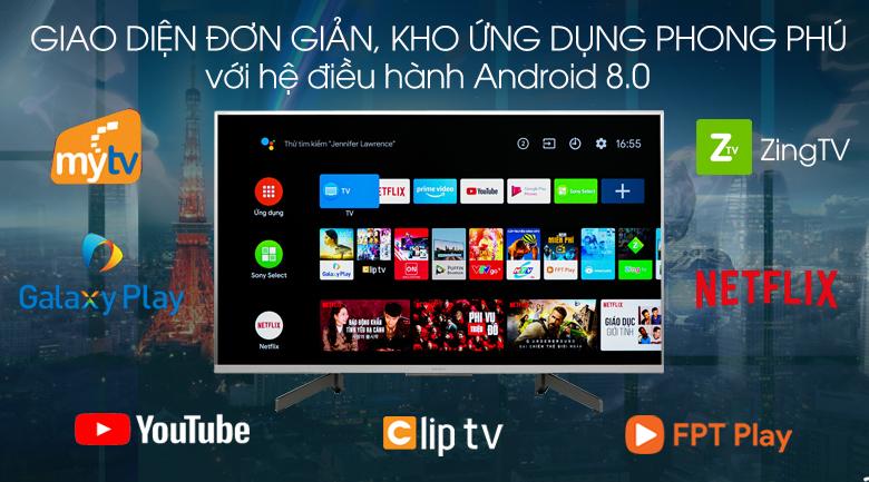 Hệ điều hành-Tivi LED Sony KD-49X8500G/S