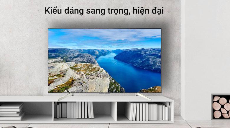 Thiết kế viền mỏng hiện đại, sang trọng trên Android Tivi Sony 4K 49 inch KD-49X8500G/S