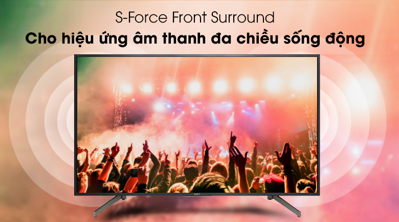 Smart Tivi Sony 4K 49 inch KD-49X7000G - S-Force Front Surround
