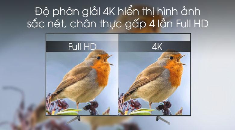 Smart Tivi Sony 4K 49 inch KD-49X7000G - độ phân giải