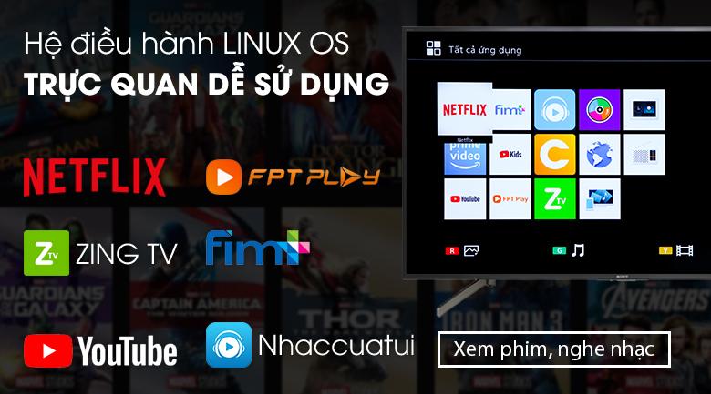 Smart Tivi Sony 4K 49 inch KD-49X7000G - hệ điều hành