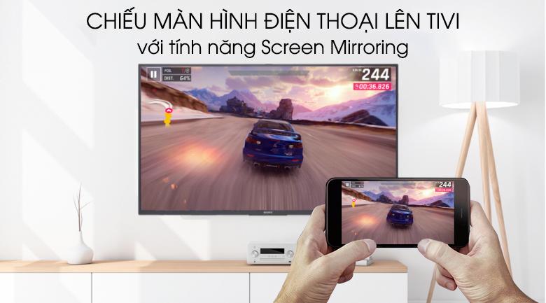 Chiếu màn hình điện thoại lên tivi - Android Tivi Sony 49 inch KDL-49W800G Mẫu 2019