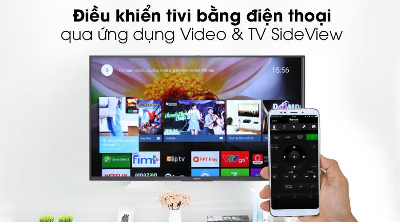 Điều khiển TV bằng điện thoại - Android Tivi Sony 49 inch KDL-49W800G Mẫu 2019