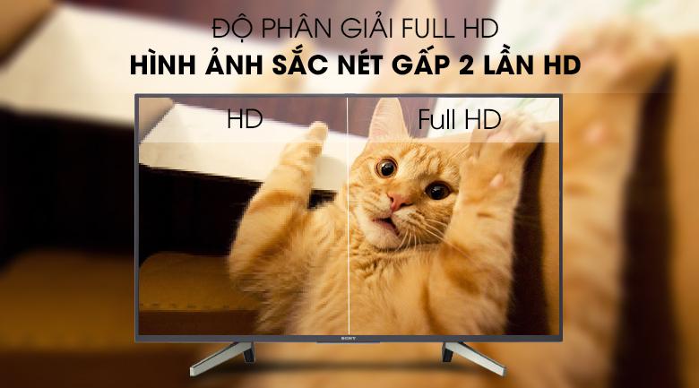 Độ phân giải màn hình Full HD, sắc nét gấp 2 lần HD - Android Tivi Sony 49 inch KDL-49W800G Mẫu 2019