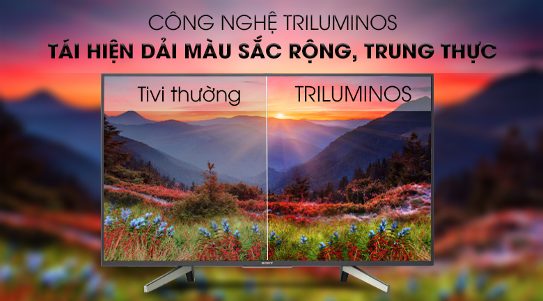 Công nghệ Triluminos - Android Tivi Sony 49 inch KDL-49W800G Mẫu 2019