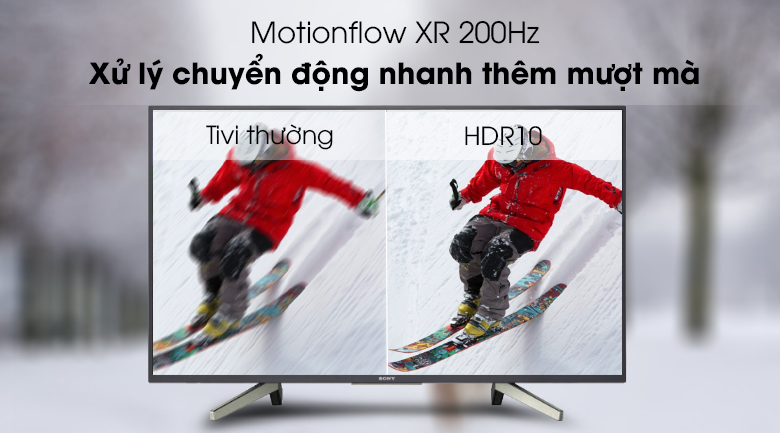 Công nghệ Motionflow XR 200Hz - Android Tivi Sony 49 inch KDL-49W800G Mẫu 2019