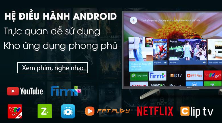 Hệ điều hành Android - Android Tivi Sony 49 inch KDL-49W800G Mẫu 2019