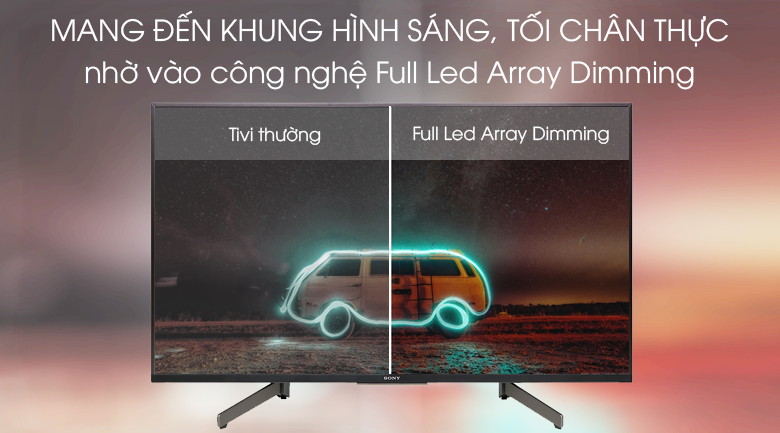 Âm thanh sống động nhờ sự kết hợp giữa công nghệ Acoustic Multi-Audio và hai loa tweeter ở mặt sau tivi