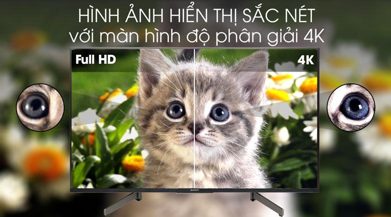 Tivi Sony 4K 43 inch KD-43X8500G - độ phân giải