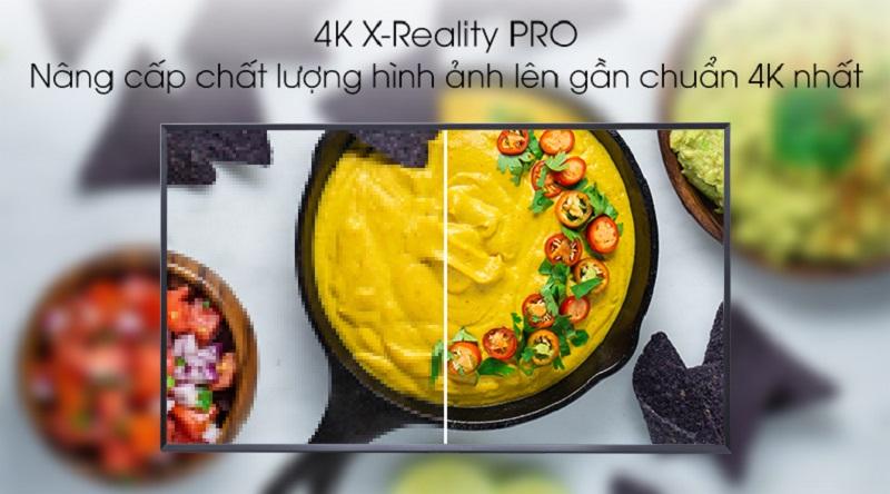 Trang bị thêm công nghệ 4K X-Reality PRO hỗ trợ nâng cấp chất lượng hình ảnh chưa đạt chuẩn 4K