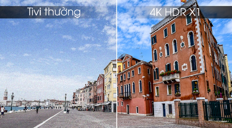 Android Tivi Sony 4K 43 inch KD-43X8500G- Xử lý hình ảnh nhanh với chip 4K HDR X1™