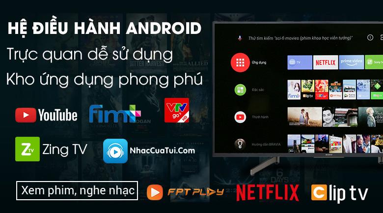 Android Tivi Sony 4K 75 inch KD-75X8000G - Hệ điều hành Android 8.0 thân quen, dễ sử dụng