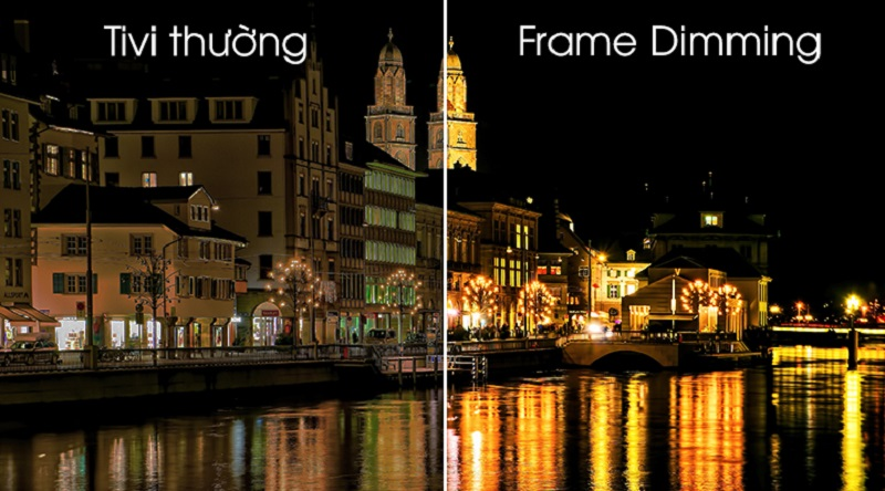 Android Tivi Sony 4K 75 inch KD-75X8000G- Tăng độ tương phản hình ảnh nhờ Frame Dimming