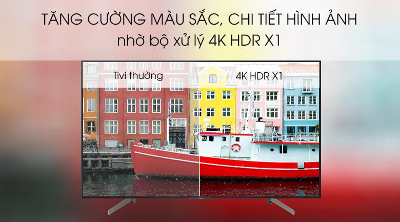 Công nghệ 4K HDR X1 xử lý, tăng cường màu sắc, chi tiết hình ảnh cho độ chính xác cao - Android Tivi Sony 4K 75 inch KD-75X8500G Mẫu 2019