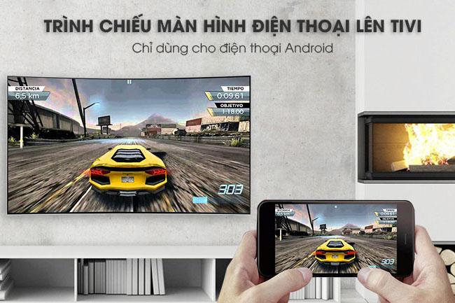 Tính năng Screen Mirroring hỗ trợ trình chiếu màn hình điện thoại lên tivi