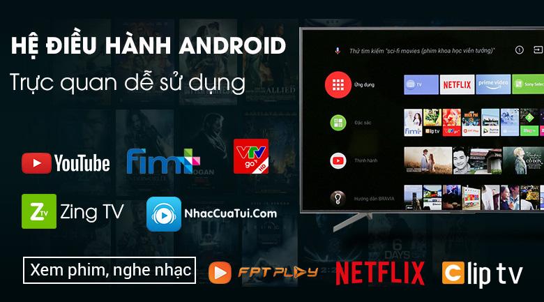 Android Tivi Sony 4K 75 inch KD-75X8500G Mẫu 2019 - Hệ điều hành