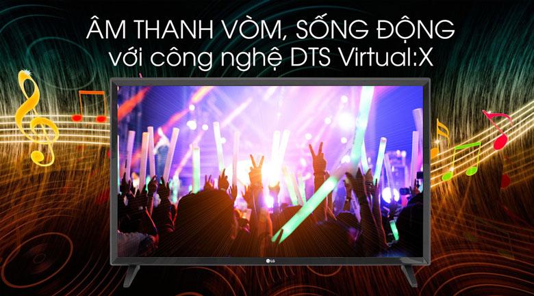 Smart Tivi LG 32 inch 32LM570BPTC có công nghệ DTS Virtual:X cho âm thanh lớn, rõ ràng hơn