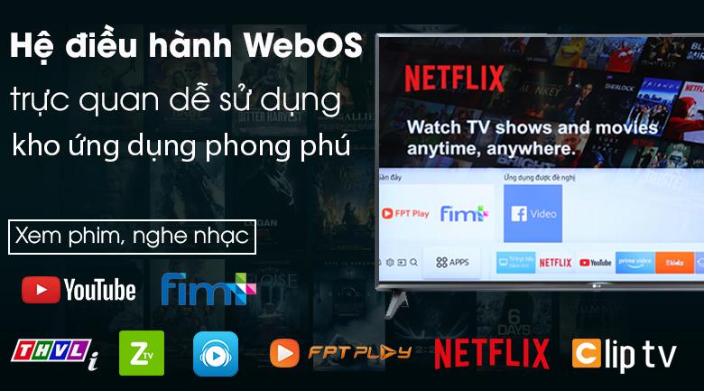 Smart Tivi LG 32 inch 32LM570BPTC có hệ điều hành WebOS 4.5 mới dễ dàng sử dụng