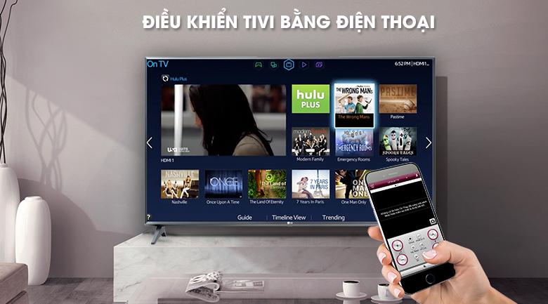 Smart Tivi LG 43 inch 43LM5700PTC - Điều khiển smart tivi LG bằng điện thoại bằng ứng dụng LG TV Plus