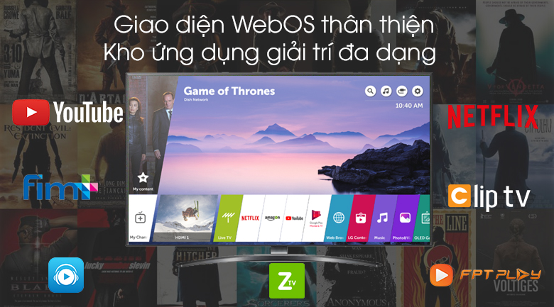 Smart Tivi LG 4K 43 inch 43UM7600PTA - WebOS