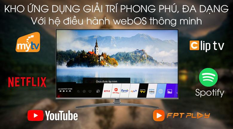 Smart Tivi LG 4K 50 inch 50UM7600PTA - Hệ điều hành