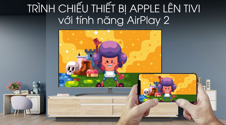 Smart Tivi LG 4K 55 inch 55UM7600PTA - AirPlay 2