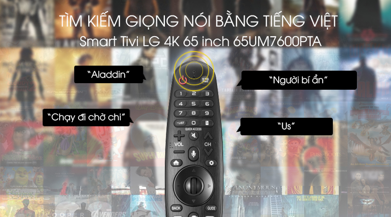 Smart Tivi LG 4K 65 inch 65UM7600PTA - Voice Search