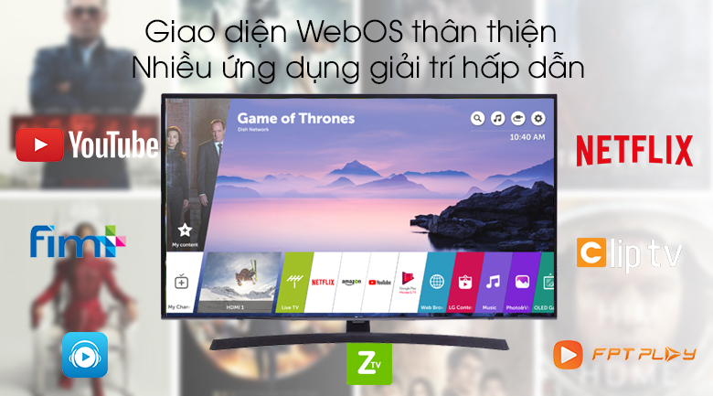 Smart Tivi LG 4K 43 inch 43UM7400PTA - WebOS