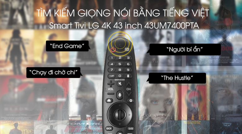 Smart Tivi LG 4K 43 inch 43UM7400PTA - Voice Search