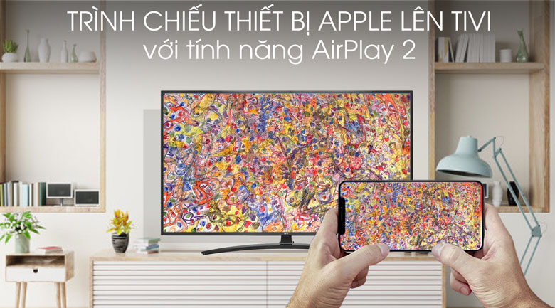 Smart Tivi LG 4K 55 inch 55UM7400PTA - AirPlay 2