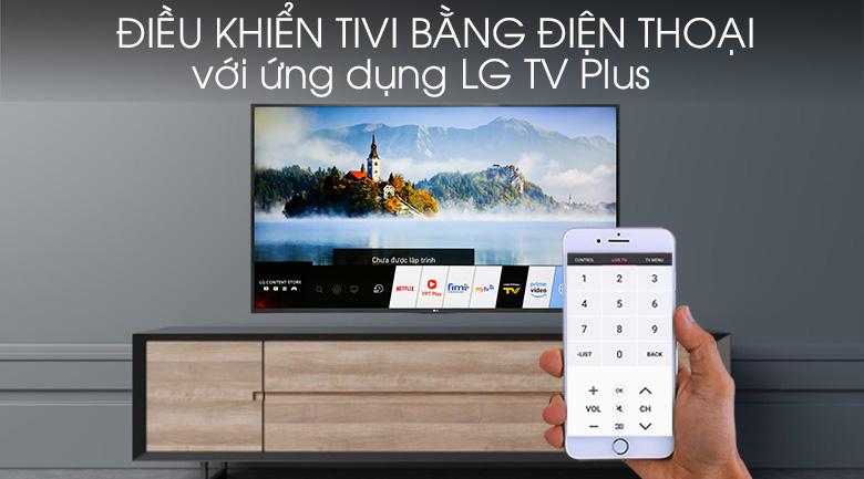 Smart Tivi LG 4K 65 inch 65UM7400PTA - Tiện lợi khi điều khiển tivi bằng điện thoại qua LG TV Plus