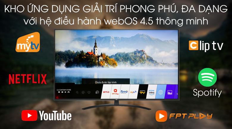 Smart Tivi LG 4K 65 inch 65UM7400PTA - Hệ điều hành WebOS 4.5 dễ sử dụng