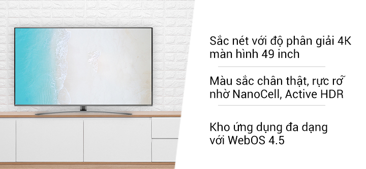 SMART TV NanoCell 4K  49""