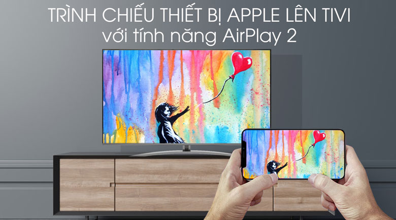Smart Tivi LG 4K 49 inch 49SM8100PTA - AirPlay 2