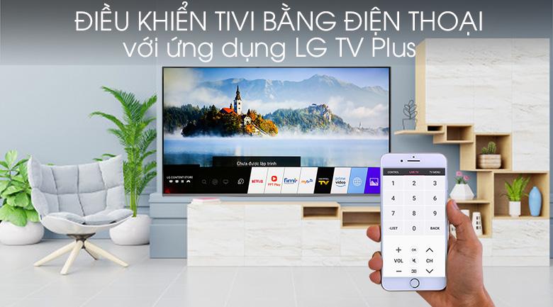 Điều khiển TV bằng điện thoại - Smart Tivi LG 4K 65 inch 65SM8100PTA Mẫu 2019