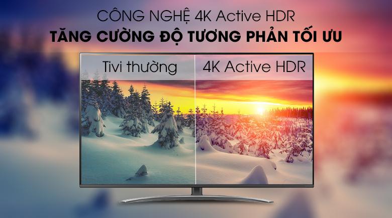 4K Active HDR - Smart Tivi LG 4K 65 inch 65SM8100PTA Mẫu 2019